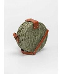 0f89f8f589 The Fashion Project Χιαστί στρογγυλή χειροποίητη πλεκτή τσάντα - Λαδί -  07885096096