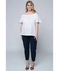7dcb3662eefa Λευκά Γυναικεία μπλουζάκια και τοπ από το κατάστημα Happysizes.gr ...