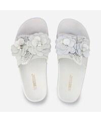 059e2e4ad4 The White Brand Γυναικεία Sliders Flower White L-0182 - Λευκό