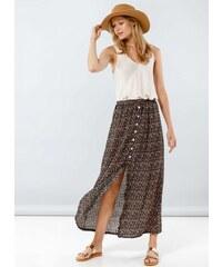 f56c420909f The Fashion Project Midi floral φούστα με κουμπιά - Μαύρο - 07998002001