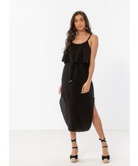 580334fd5ff9 The Fashion Project Midi φόρεμα με βολάν στο μπούστο - Μαύρο - 07928002001