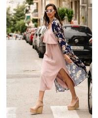 3695bdd09818 The Fashion Project Midi φόρεμα με βολάν στο μπούστο - Ροζ - 07928012001