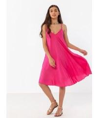 c0d9b53abad6 The Fashion Project Basic φόρεμα με λεπτό ραντάκι - Φούξια - 07458020001