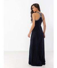 925e7f0e62bd Noobass Maxi φόρεμα με boho λεπτομέρεια στην πλάτη - Μπλε σκούρο -  07946023001