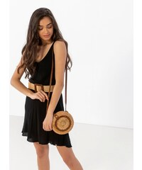 b41191316ab7 The Fashion Project Basic oversize φόρεμα με φαρδιά ράντα - Μαύρο -  07450002001