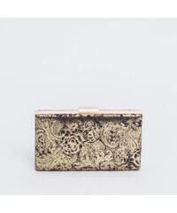 58e9e0a1cb Bag to bag CK-911512 Τσάντα φάκελος με λουλούδια - Χρυσό