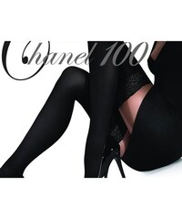 23ba8050d30 Ballerina 2235 BA Μαύρες κάλτσες με σιλικόνη δαντέλα και κέντημα ...