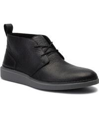 03d53304e3 Μποτάκια CLARKS - Hale Lo 261396237 Black Leather