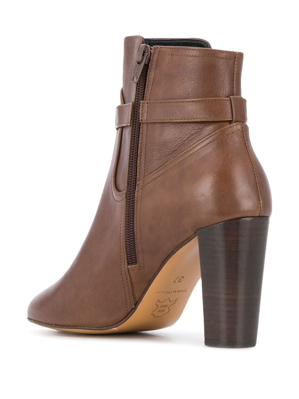 Tila March side-buckle ankle boots - Brown