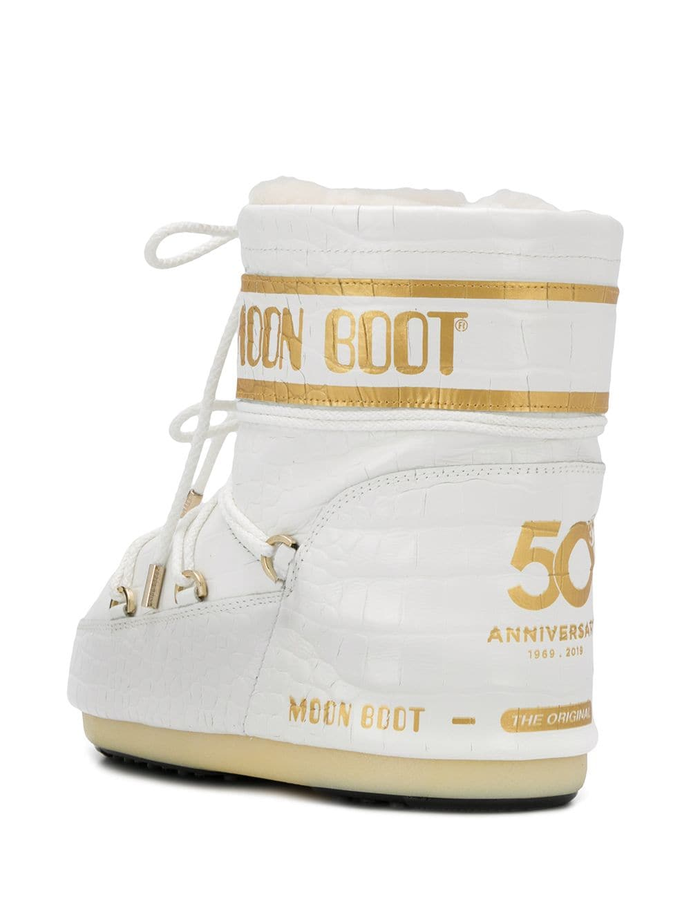Moon Boot croc effect snow boots - White