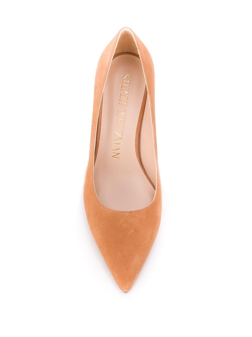 Stuart Weitzman chunky heel pumps - Brown