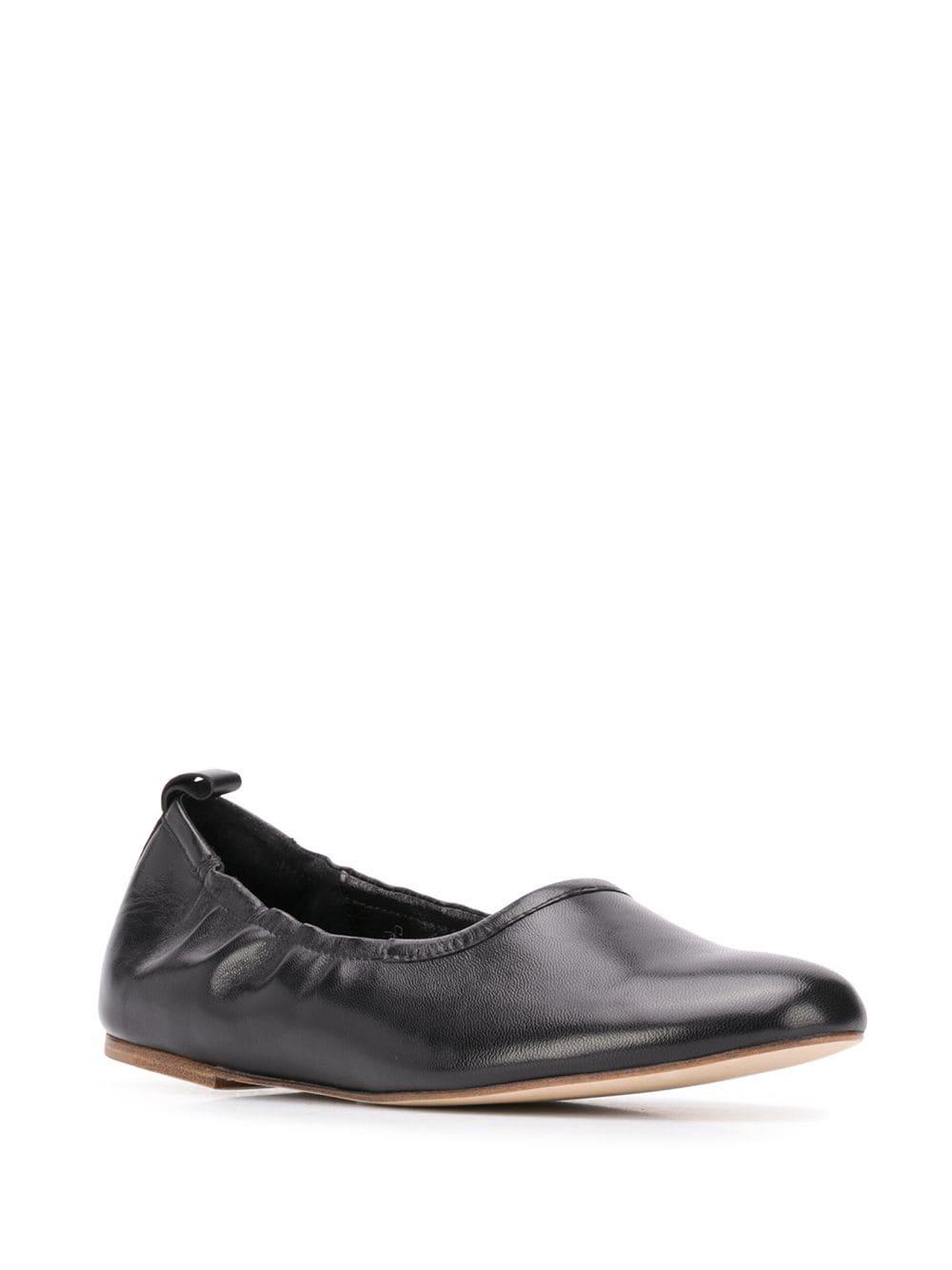 A.P.C. stretch-fit ballerina shoes - Black