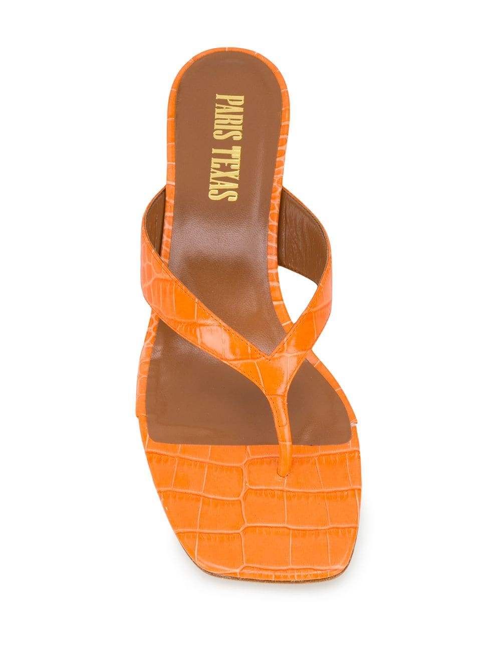 Paris Texas textured 65mm mules - ORANGE