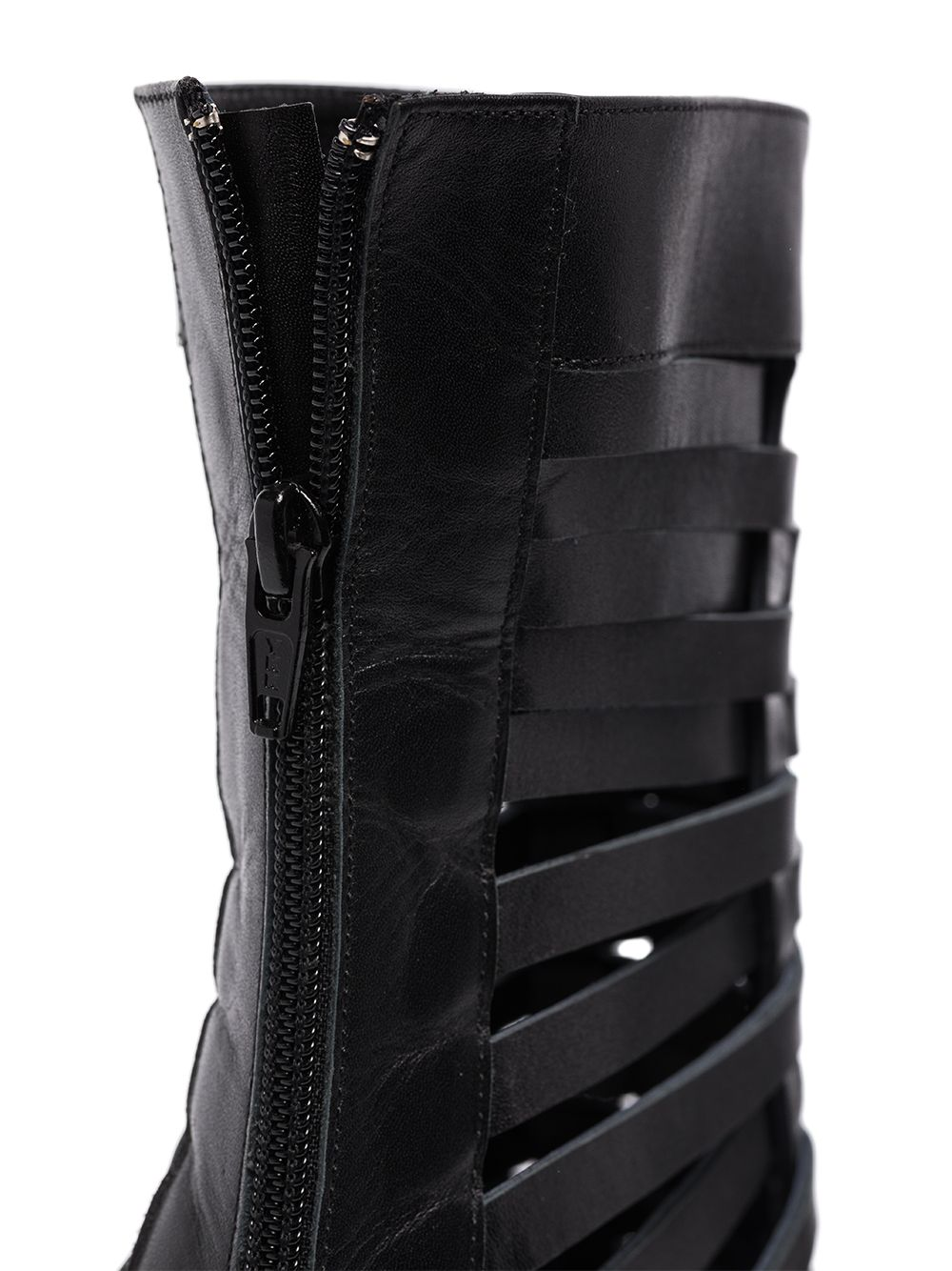Materiel 75mm woven leather ankle boots - Black
