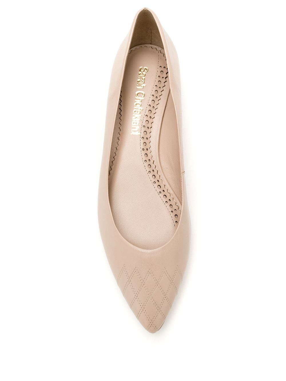 Sarah Chofakian Greasy leather flats - Neutrals