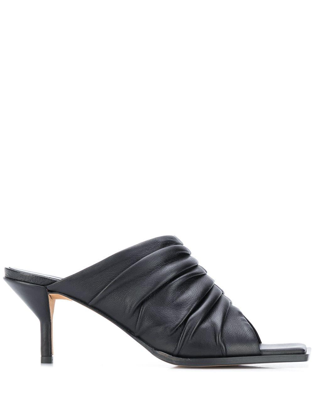 3.1 Phillip Lim pleated square toe mules - Black