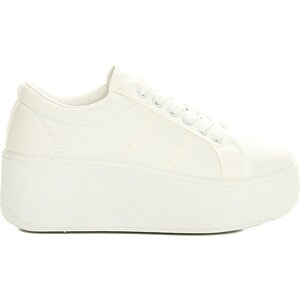 Luigi Sneakers με Πλατφόρμα Πάνινα - Λευκό - 003 - Glami.gr aa0a2a9305a