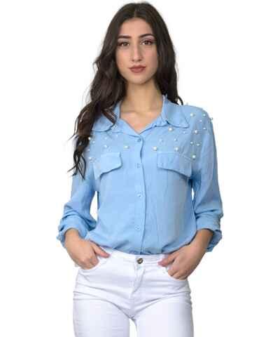 20eec7fd8875 Ανοιχτά μπλε Γυναικείες μπλούζες και πουκάμισα με δωρεάν αποστολή ...