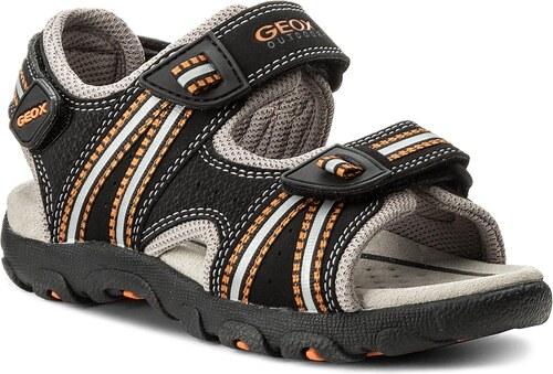 Σανδάλια GEOX - J S.Strada A J4224A 0CE14 C0038 M Black Orange ... 74d5ad85320