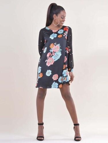 8a7e75a636 OEM F139 Φόρεμα floral - ΜΑΥΡΟ 14960 - Glami.gr