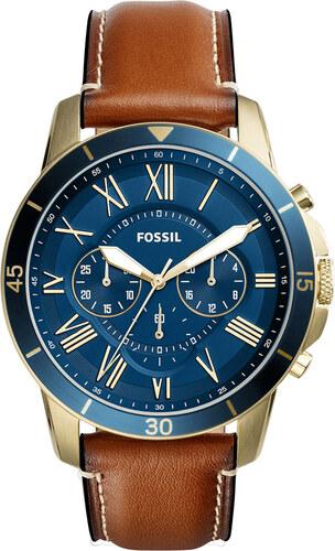 Ρολόι FOSSIL - Grant Sport FS5268 Light Brown Gold Blue - Glami.gr 276793b58bf