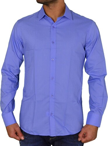Gio.S Ανδρικό μονόχρωμο πουκάμισο GioS σιέλ 9551W17 - Glami.gr c1f20c00b0c