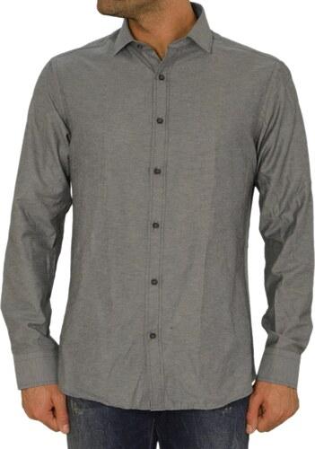 f5d1030c5562 Gio.S Ανδρικό πουκάμισο GioS ανθρακί 9545W17F - Glami.gr