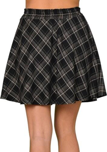 Γυναικεία μίνι καρό φούστα κλος Cocktail μαύρη 013904061 - Glami.gr f5539ce515b