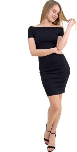 a9c3e7a7b92e No Stress Γυναικείο Pencil φόρεμα κοντό μανίκι μαύρο χαμόγελο 8157109
