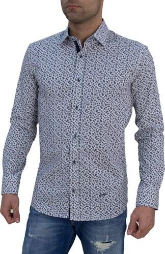 77fd6464a506 Ανδρικό πουκάμισο Ben Tailor λευκό με σχέδια 0061 - Glami.gr