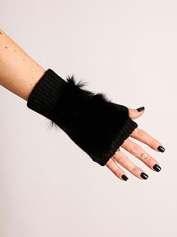 Celestino Κοφτά γάντια με διακοσμητική φυσική γούνα WK673.A423+1 ... 2a0eabee270