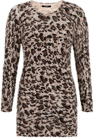 563121073646 Celestino Χνουδωτό πουλόβερ με σχέδιο animal print WK1578.9112+3 ...