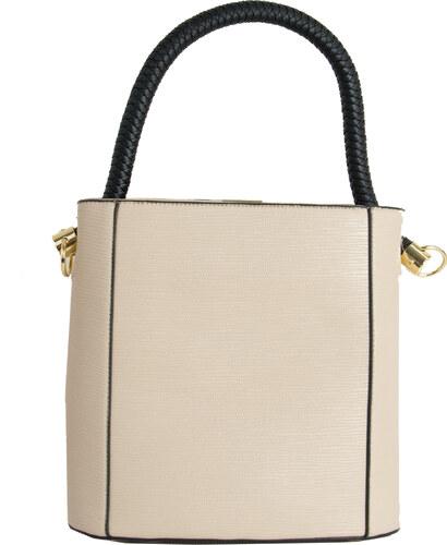 Huxley   Grace Γυναικεία τσάντα ώμου μπεζ ανάγλυφη χερούλι 048910G ... 2936403b3e1