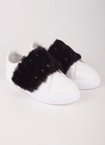 The Fashion Project Sneakers με γουνάκι - Μαύρο - 004 - Glami.gr e1e6eea04a4