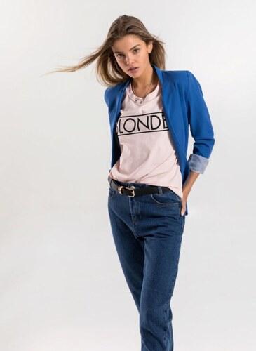 c4b8da155de4 The Fashion Project Μεσάτο σακάκι με ρίγα στη φόδρα - Ίντιγκο - 007 ...