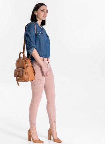 203130f55b6 The Fashion Project Ψηλόμεσο cargo παντελόνι - Ροζ - 04181012004 ...