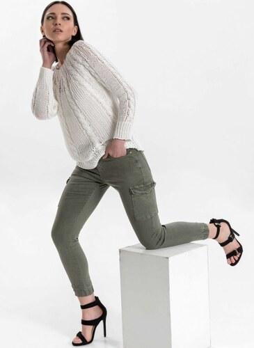 d3ffc9ec03b The Fashion Project Ψηλόμεσο cargo παντελόνι - Χακί - 003 - Glami.gr
