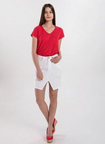 The Fashion Project Denim φούστα με λοξό ανοιγμα - Λευκό - 006 ... 2d6e91fe39a