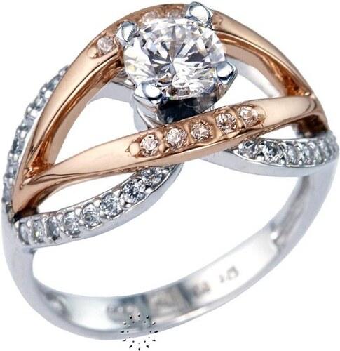 SAVVIDIS Μονόπετρο δαχτυλίδι 14 καράτια Λευκόχρυσο και Ροζ Χρυσό ... 3ad1b644da4