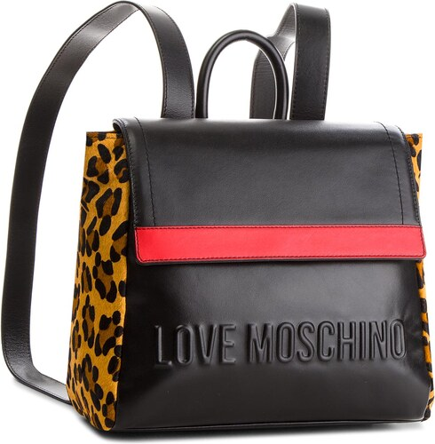 5d81d5a0ab Σακκίδιο LOVE MOSCHINO - JC4139PP16LX100A Nero Rosso Calv. Leop ...
