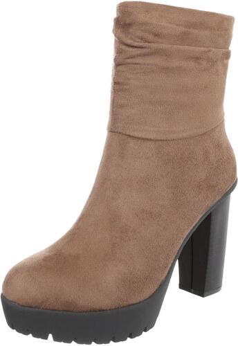 73484340e21 LD shoes 0651 LD Γυναικεία σουέτ μποτάκια - μπέζ - Glami.gr