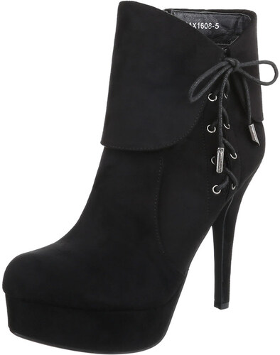 7a4e97fe85f LD shoes 0641 LD Ψηλοτάκουνα σουέτ μποτάκια - μαύρα - Glami.gr