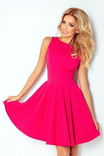 2f84efd477de Numoco 70065 NU Κομψό μίνι φόρεμα με πιέτες - φούξια - Glami.gr