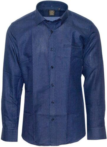 cebd60884bb0 VAN HIPSTER 71277-03 Ανδρικό πουκάμισο εμπριμέ με μακρύ μανίκι - Μπλέ