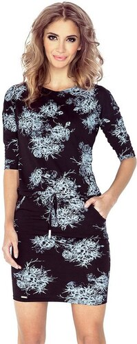 4d0723764a91 Numoco 70102 NU Μινι φόρεμα με μανίκια 3 4 -Μαυρο - Glami.gr