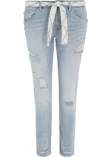 TOM TAILOR ΓΥΝΑΙΚΕΙΟ SLIM BOYFRIEND JEAN 1002458-10121 (10121 DESTROYED  BLEACHED BLUE DENIM) ec5cad688fb