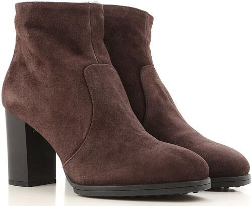 90830da940f -50% Tods Μπότες για Γυναίκες, Μποτάκια Σε Έκπτωση Στο Outlet, Σκούρο Καφέ,  Σουέντ δέρμα