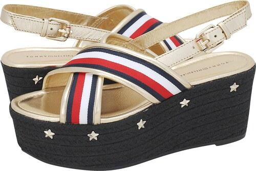 310ce7c04e3 Πλατφόρμες Tommy Hilfiger Corporate Ribbon Flatform Sandal - Glami.gr