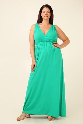2756fd5f2fa0 Parabita Maxi αμάνικο βισκόζ φόρεμα με κρουαζέ ντεκολτέ. - Glami.gr