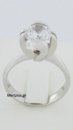 Mertzios.gr Δαχτυλίδι Μονόπετρο Λευκόχρυσο 14 Καράτια (NEW) - Glami.gr 5a1b4b9c16b